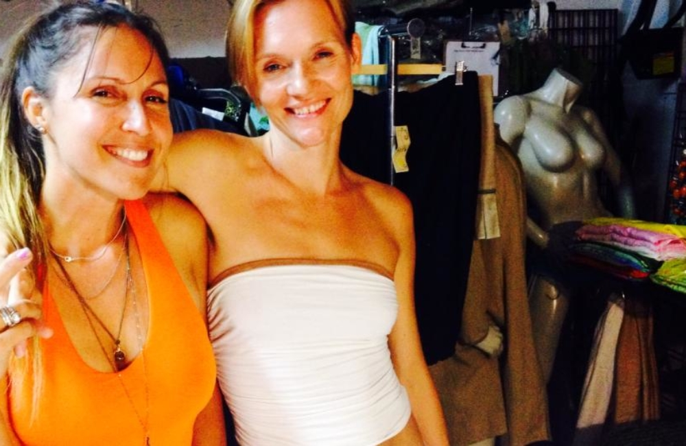 Sita Thompson Jolene Anderson Super Model fitting Los Angeles